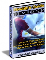 Newbies Guide To Resale Rights eBook with Resell Rights