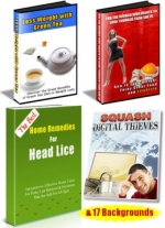 2+2 eBooks + 17 Backgrounds eBook with Private Label Rights