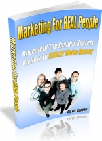 Marketing For REAL People eBook with Master Resale Rights