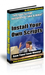 Install Your Own Scripts eBook with Master Resale Rights