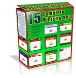 15 Complete Minisite Sets Template with Master Resale Rights