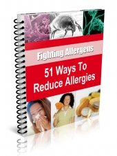 51 Ways to Reduce Allergies eBook with private label rights