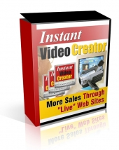 Instant Video Creator Software with Resale Rights