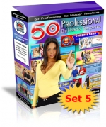 50 Professional Biz Header Templates : Set 5 Graphic with Private Label Rights