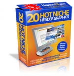 20 Hot Niche Header Graphics V2 Graphic with Master Resale Rights