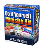 Do It Yourself Minisite Kit Template with Personal Use Rights