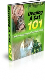 Owning A Cat 101 eBook with Master Resale Rights