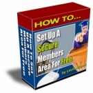 How To Set Up A Secure Members Area For Free eBook with Resell Rights