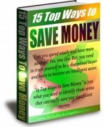 15 Top Ways To Save Money eBook with Private Label Rights