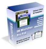 IM Minisites Pro Pak Template with Master Resale Rights