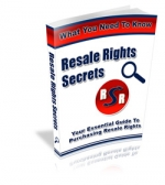 Resale Rights Secrets eBook with Master Resale Rights