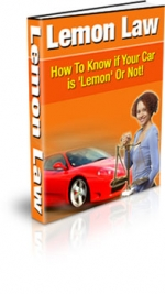 Lemon Law eBook with Master Resale Rights
