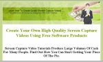 Learn How To Create Quality Screen Capture Videos Video with Private Label Rights