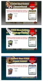 3 Audio Squeeze Page Templates Template with Personal Use Rights