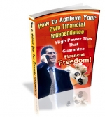 How To Achieve Your Own Financial Independence eBook with Private Label Rights