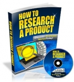 How To Research A Product eBook with Master Resale Rights