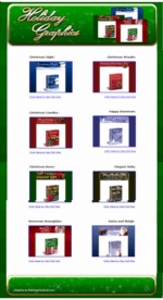 12 Matching Sets Of Christmas Holiday Graphics Template with private label rights