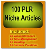 100 PLR Niche Articles Gold Article with Private Label Rights