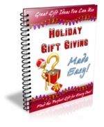 Holiday Gift Giving Made Easy! eBook with Master Resale Rights