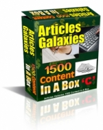 Articles Galaxies - 1500 Content In A Box Gold Article with Private Label Rights