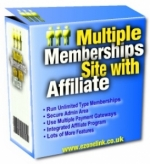 Multiple Memberships Site With Affiliate Software with Private Label Rights