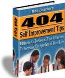 404 Self Improvement Tips eBook with Resell Rights