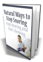 Natural Ways to Stop Snoring eBook with Master Resale Rights