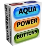 Aqua Power Buttons Graphic with Private Label Rights