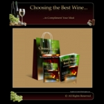 Wine Minisite Graphic with private label rights
