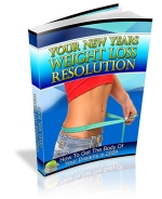 Your New Years Weight Loss Resolution eBook with Private Label Rights