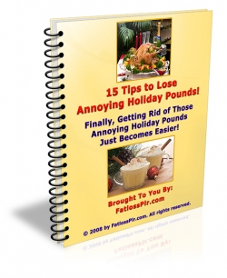 15 Tips To Lose Annoying Holiday Pounds