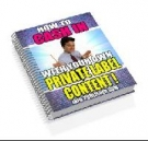 How To Cash In With Your Own Private Label Content! eBook with Resell Rights