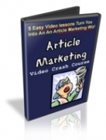 Article Marketing Video Crash Course Video with Personal Use Rights