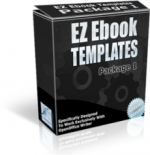 EZ Ebook Templates Package 1 Graphic with Master Resale Rights
