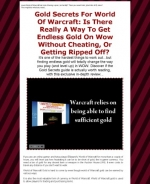 Gold Secrets For World Of Warcraft Graphic with Resale Rights