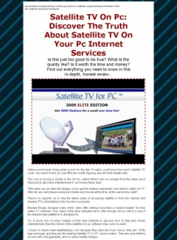 Satellite TV On PC