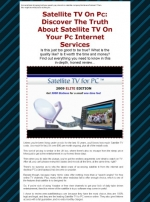 Satellite TV On PC Graphic with Resale Rights