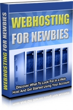 Webhosting For Newbies eBook with private label rights