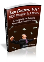 List Building 101 eBook with Giveaway Rights