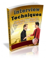 Interview Techniques eBook with Master Resale Rights