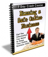 Running A Safe Online Business eBook with Private Label Rights
