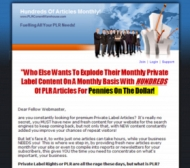 PCW Monthly May 09 Additions Gold Article with private label rights