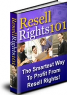 Resell Rights 101 eBook with Master Resell Rights