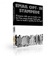 Email Opt-In Stampede eBook with Private Label Rights