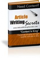 Article Writing Secrets eBook with Master Resell Rights