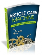 Article Cash Machine eBook with Personal Use Rights