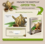 Discover The Benefits Of Green Tea Special Report! Graphic with Resale Rights