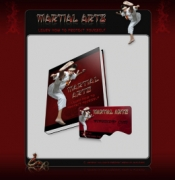Martial Arts - Learn How to Protect Yourself Graphic with private label rights