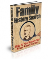 Family History Search eBook with Private Label Rights