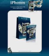 Learn How To Make Money With iPhone Applications! Graphic with Personal Use Rights